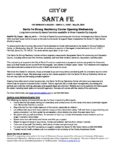 A Message from City of Santa Fe regarding Santa Fe Strong Resiliency Center | May 26th, 2018 at 10:00 AM