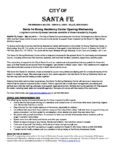A Message from City of Santa Fe about the Santa Fe Strong Resiliency Center | May 30th, 2018 at 10:00 PM