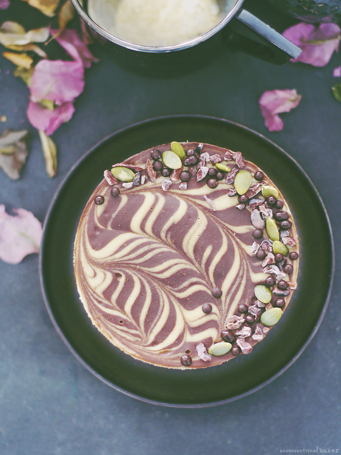 Chocolate Cauliflower Ice Cream Cake (Raw-Ish / No Bake, and Free From: gluten & grains, dairy, nuts, eggs, and refined sugar)