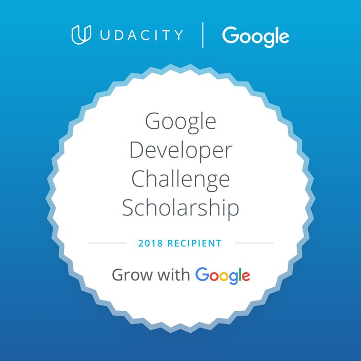 Udacity Scholarship Badge