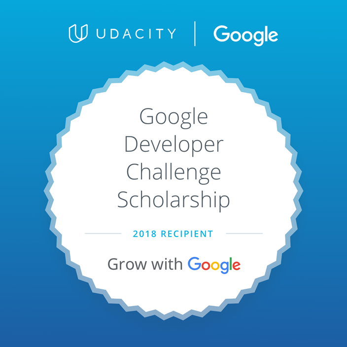 Udacity Scholarship Badge