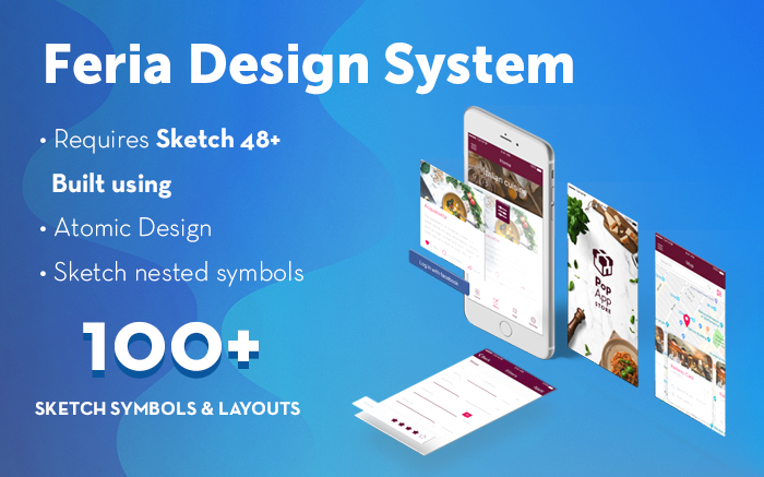 Feria - Mobile design system for Sketch