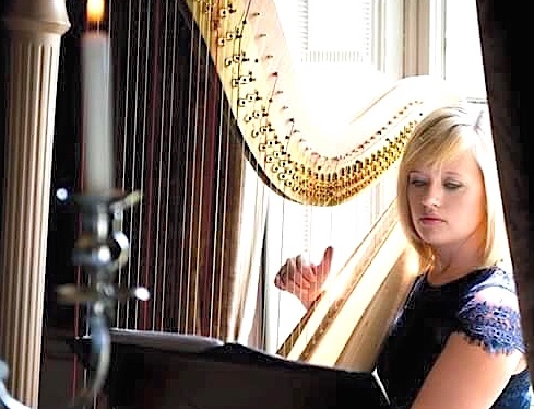 nikki-v-harpist-performing-at-a-wedding