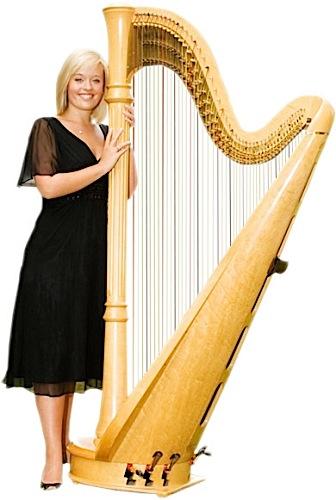 nikki-v-harpist-standing-beside-full-sized-harp