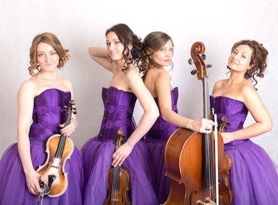 Female string quartet with instruments