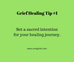 healing begins with a sacred intention