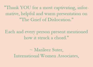 speaker on grief