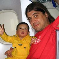 Three children on a looooooooong flight.