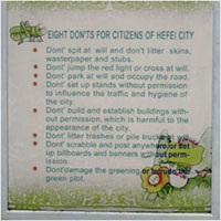 Wanna live in Hefei? Then don't do the following.