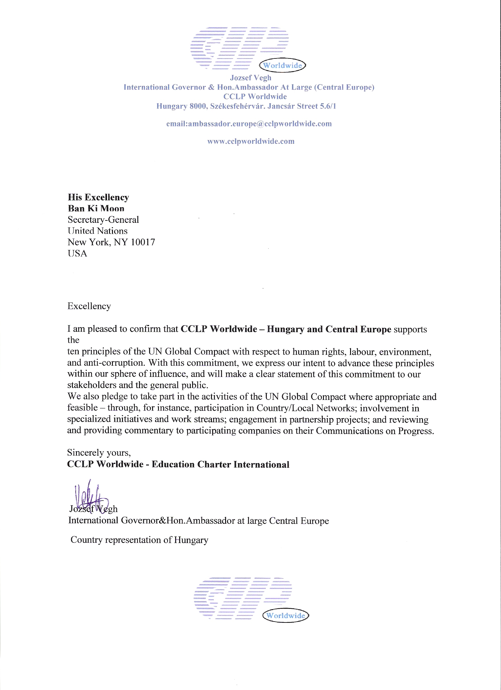 CCLP Worldwide Hungary and Central Europe | UN Global Compact