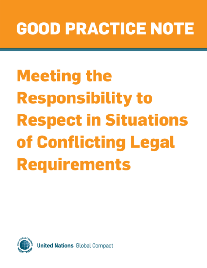 Meeting the Responsibility to Respect in Situations of Conflicting Legal Requirements