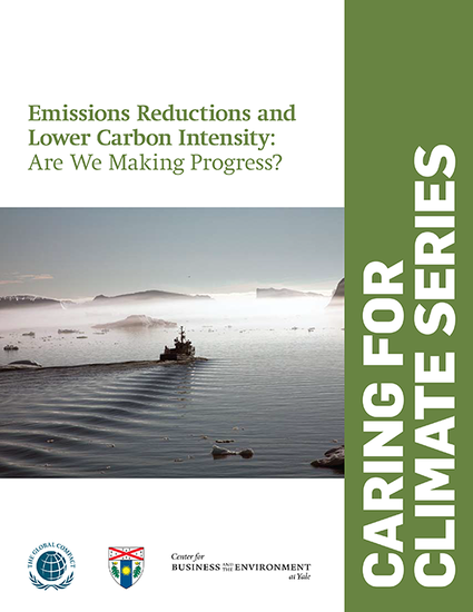Caring for Climate Series: Emissions Reductions and Lower Carbon Intensity: Are We Making Progress?