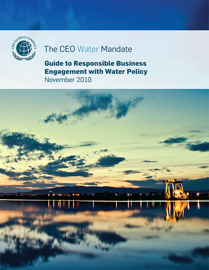 Guide to Responsible Business Engagement with Water Policy
