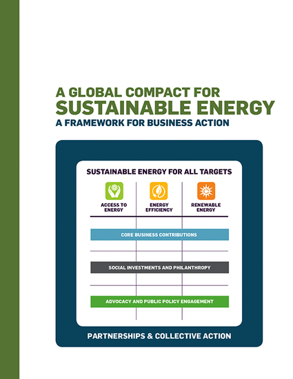 A Global Compact for Sustainable Energy: A Framework for Business Action