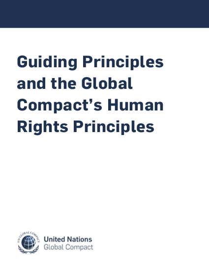 Guiding Principles and the Global Compact's Human Rights Principles