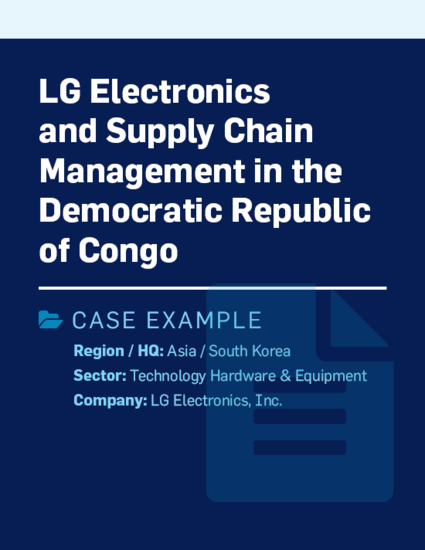 LG Electronics and supply chain management in the Democratic Republic of Congo