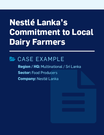 Nestlé Lanka's commitment to local dairy farmers