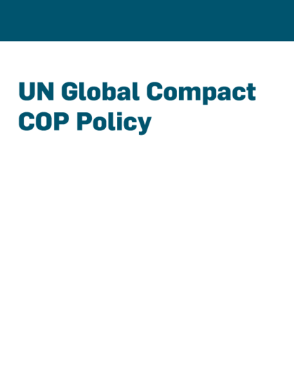 Global Compact Communication on Progress Policy