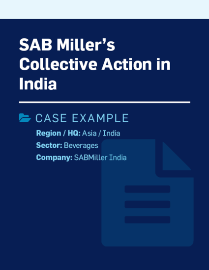 SAB Miller's Collective Action In India