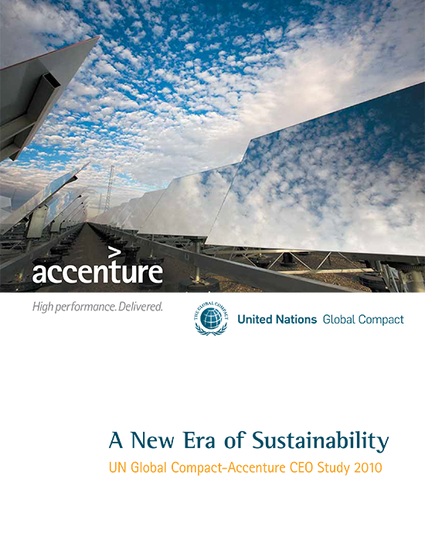 A New Era of Sustainability – UN Global Compact-Accenture CEO Study 2010