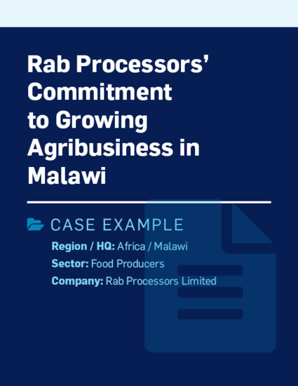 Rab Processors commitment to growing agribusiness in Malawi