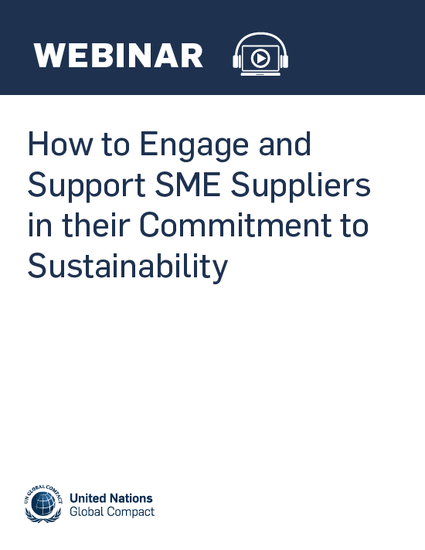 How to Engage and Support SME Suppliers in their Commitment to Sustainability