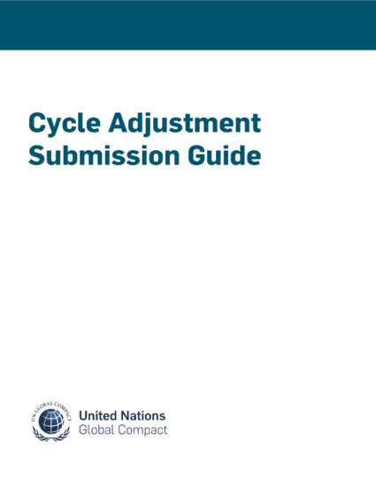 Cycle Adjustment Submission Guide