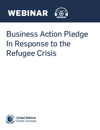 Business Action Pledge In Response to the Refugee Crisis