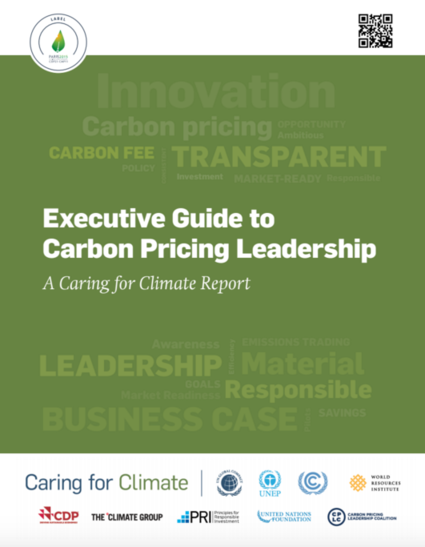 Executive Guide to Carbon Pricing Leadership: A Caring for Climate Report