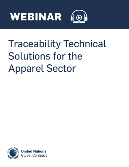 Traceability Technical Solutions for the Apparel Sector