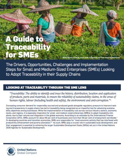 A Guide to Traceability for SMEs