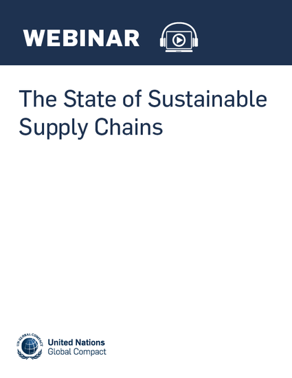 The State of Sustainable Supply Chains