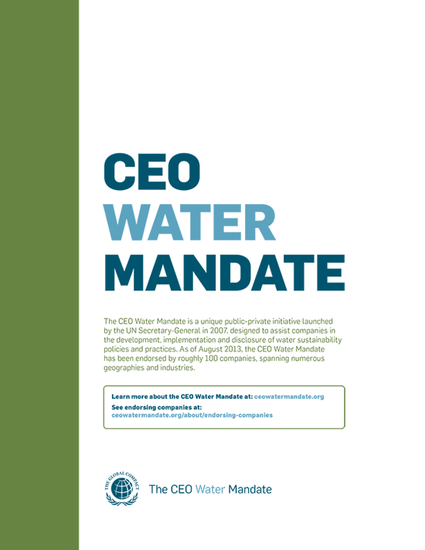 The CEO Water Mandate Brochure