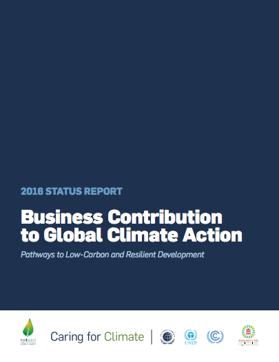 2016 Status Report: Business Contribution to Global Climate Action