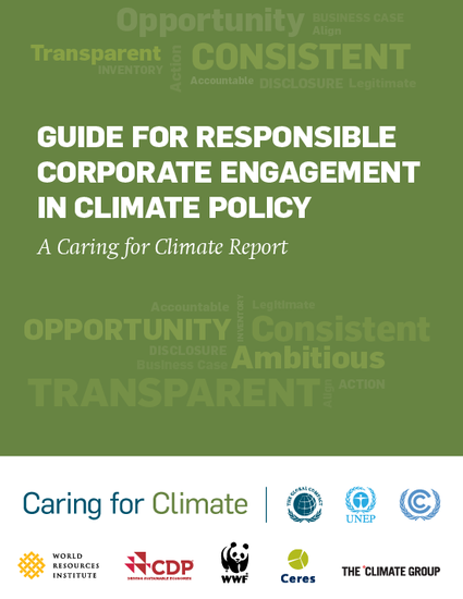 The Guide for Responsible Corporate Engagement in Climate Policy