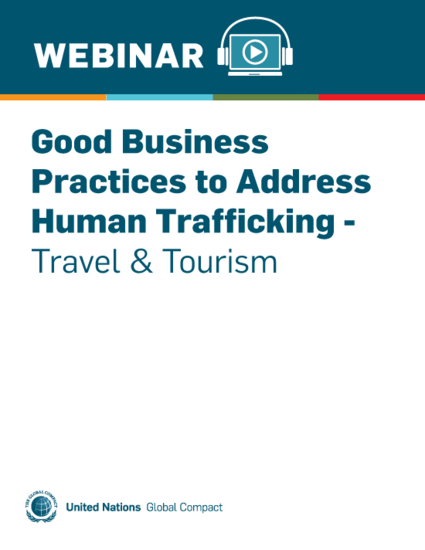 Good Business Practices to Address Human Trafficking - Travel & Tourism