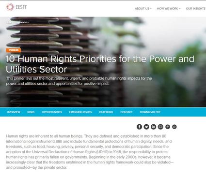 10 Human Rights Priorities for the Power and Utilities Sector