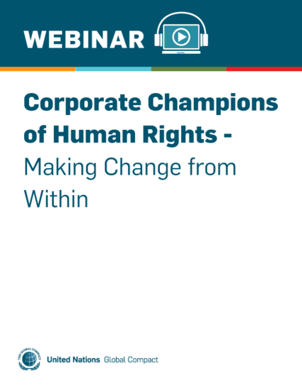 Corporate Champions of Human Rights - Making Change from Within