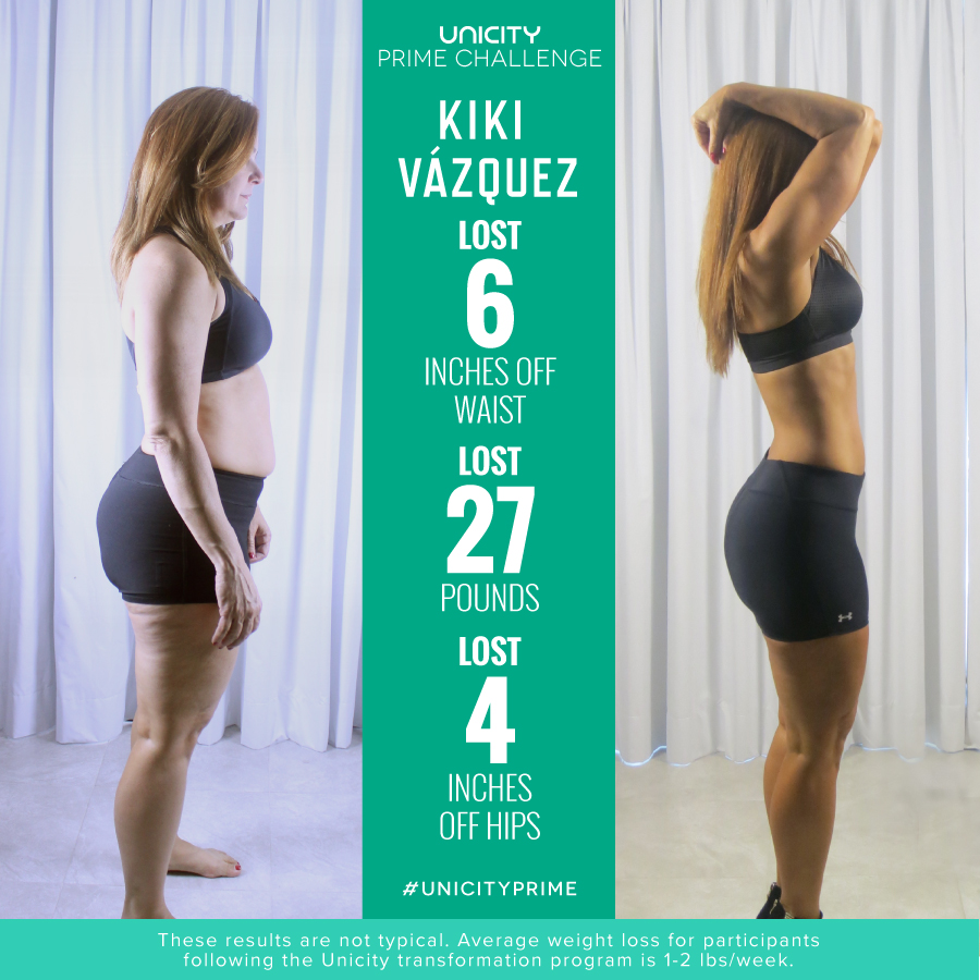 Kiki Vazquez Unicity Transformation Prime Challenge Grand Prize Winner
