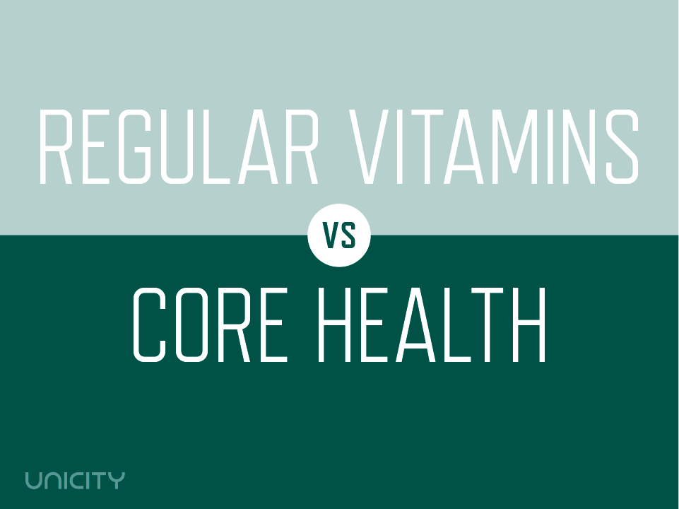 Regular Vitamins vs Core Health | Unicity Blog