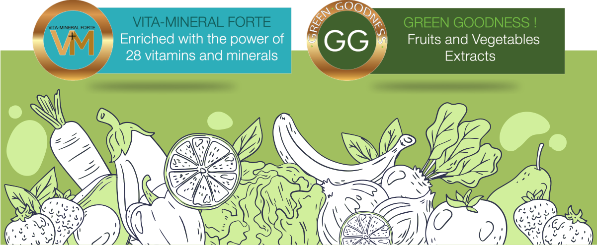 Vita-Mineral Forte and Green Goodness