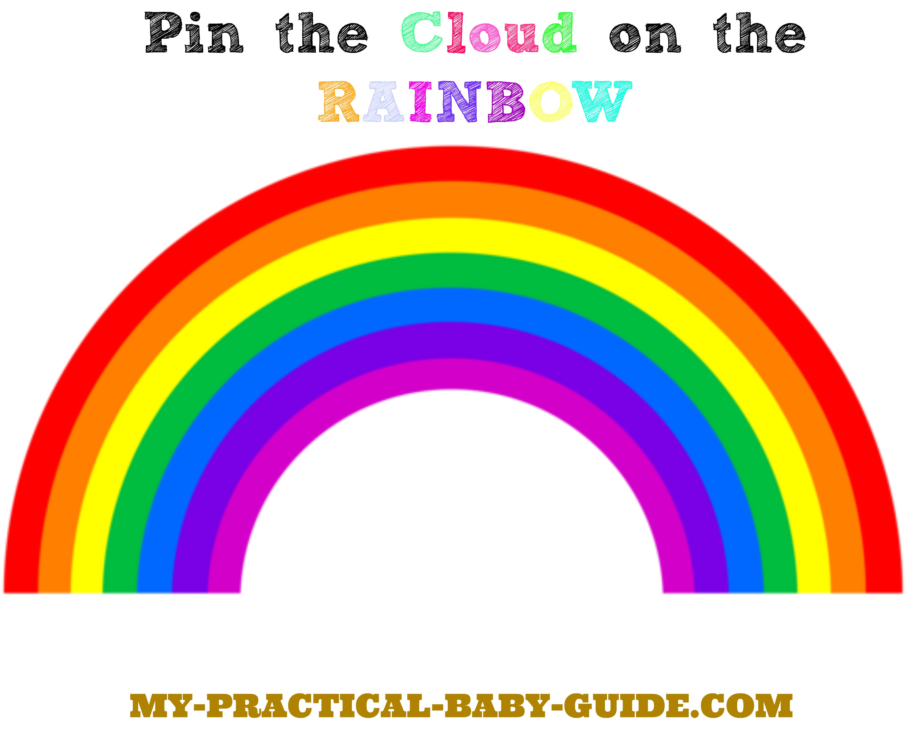 It's just an image of Slobbery Free Printable Rainbow