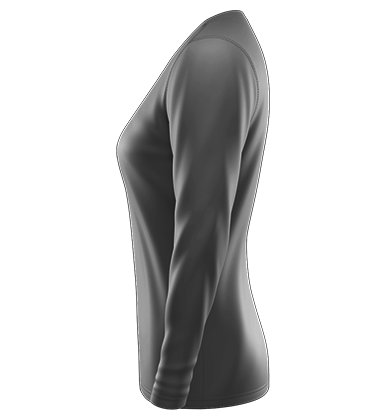 Loose Tech Tee Long V Neck Blank Template