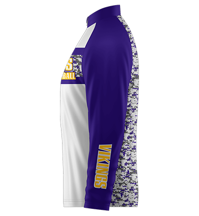 Vikings Quarter Zip Jacket Long Sleeve