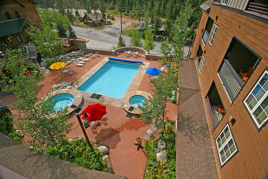 Gorgeous pool and sundeck on site, this unit has very easy private side access to pool area