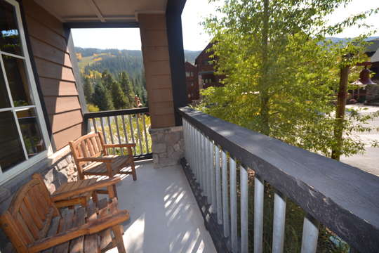 Deck with views to West of mountains and sunsets