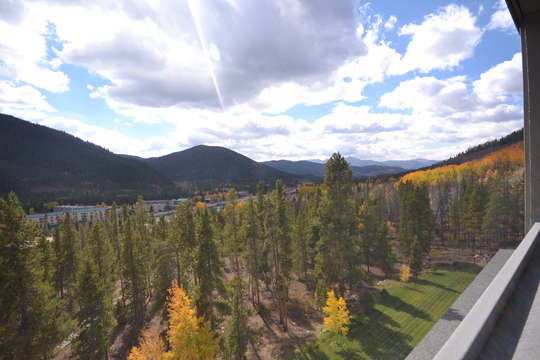 View from deck, leaves are just starting to change