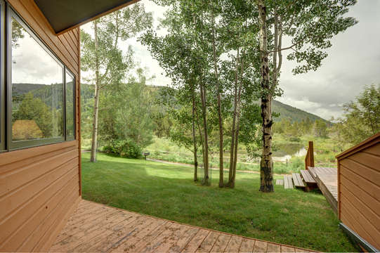 View from Private deck with grill, bike path