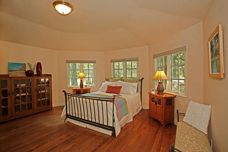 Bedroom #3 with front yard views