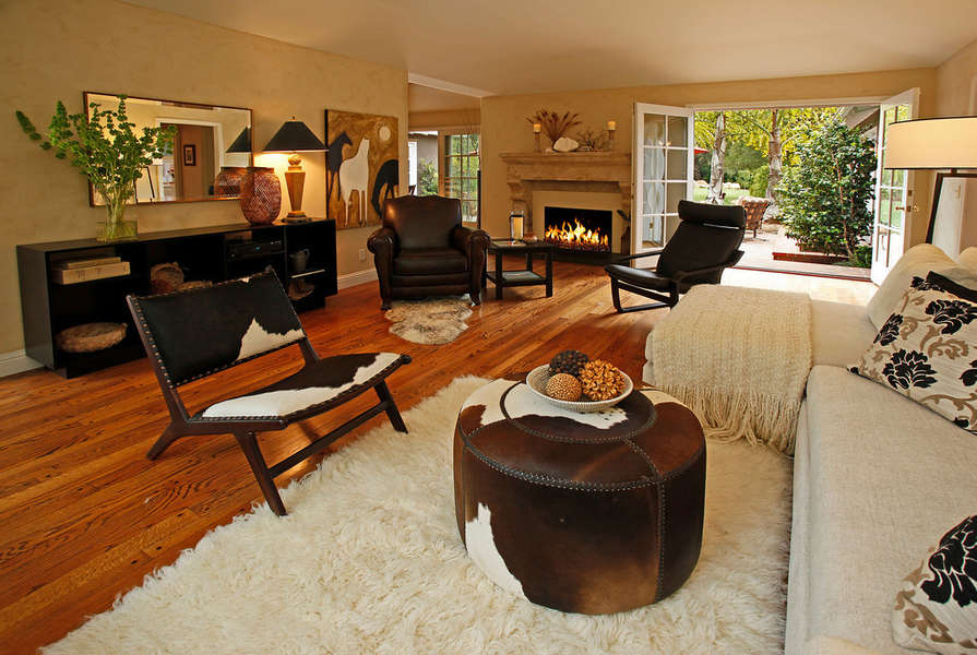 Living Room opens to the great backyard!